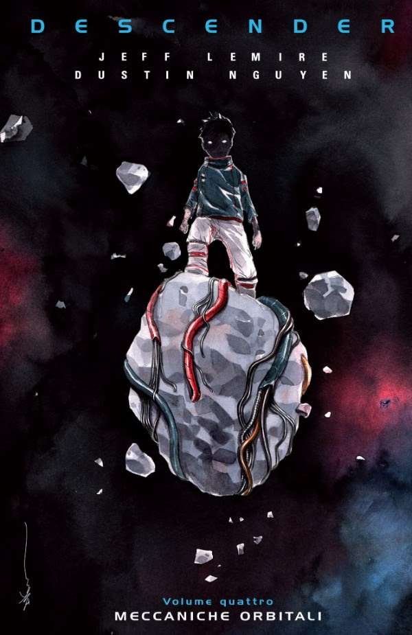 Descender vol. 4: Meccaniche Orbitali, copertina di Dustin Nguyen
