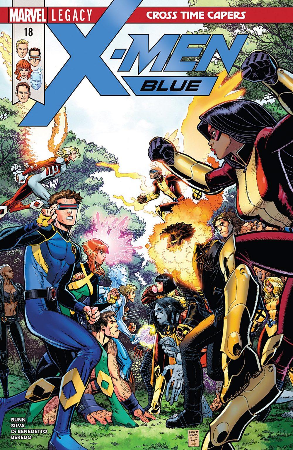 X-Men: Blue #18, copertina di Arthur Adams