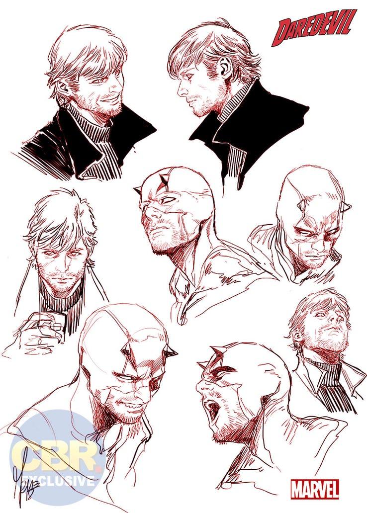 Daredevil #1, studi di Marco Checchetto