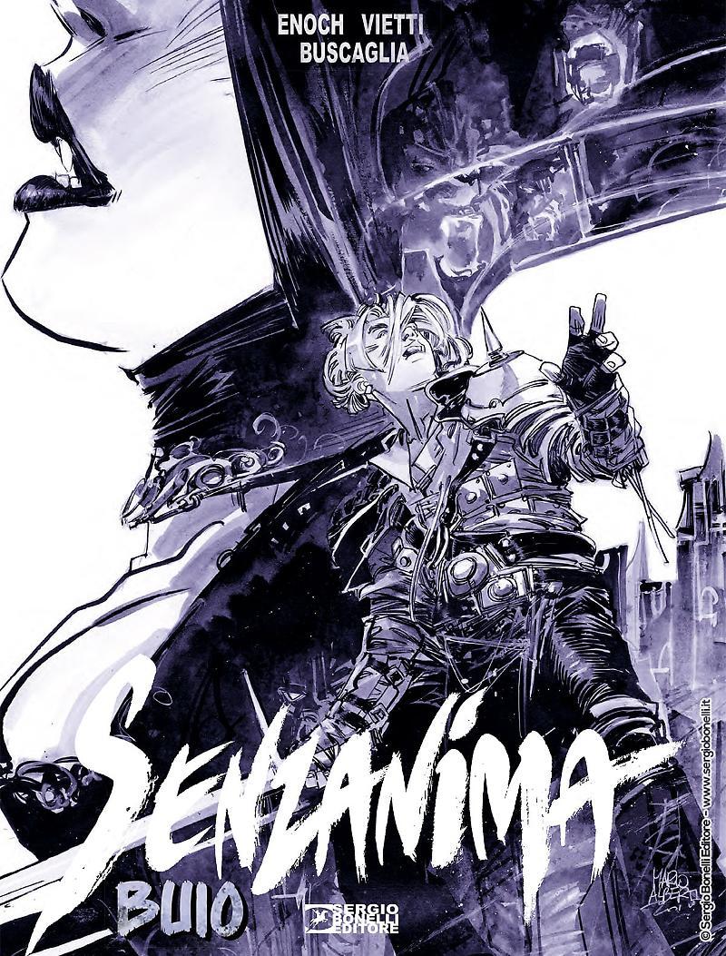 Senzanima vol. 3: Buio, copertina di Mario Alberti