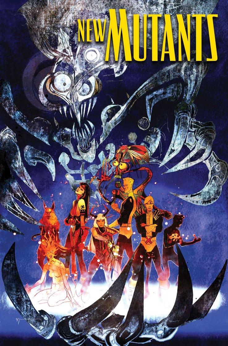 New Mutants: War Children #1, copertina di Bill Sienkiewicz