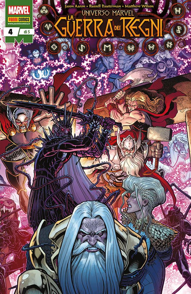 Universo Marvel: La Guerra dei Regni 4, copertina di Arthur Adams