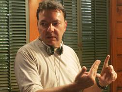 Alan Ball sul set di True Blood