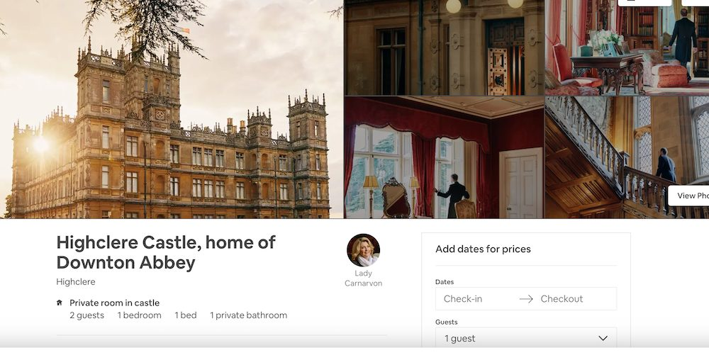 Downton Abbey Highclere Castle Airbnb