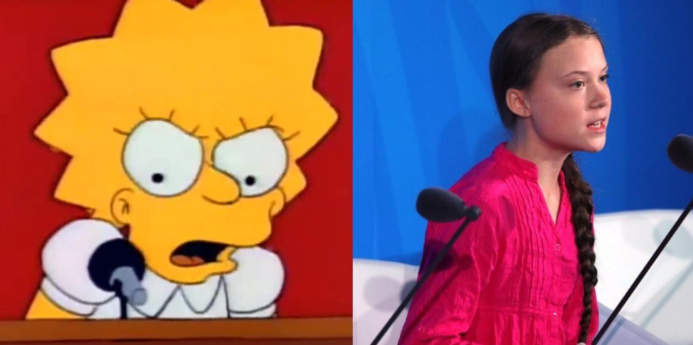 Lisa Simpson Greta Thunberg
