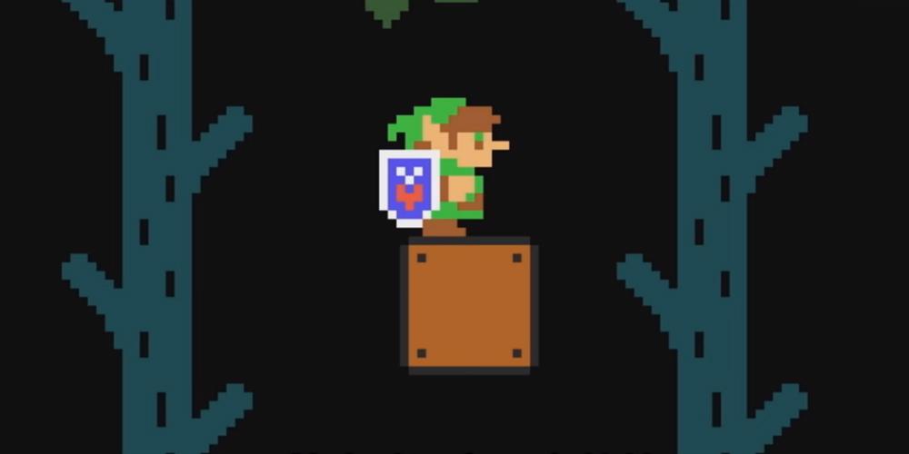 Super Mario Maker 2 The Legend of Zelda banner