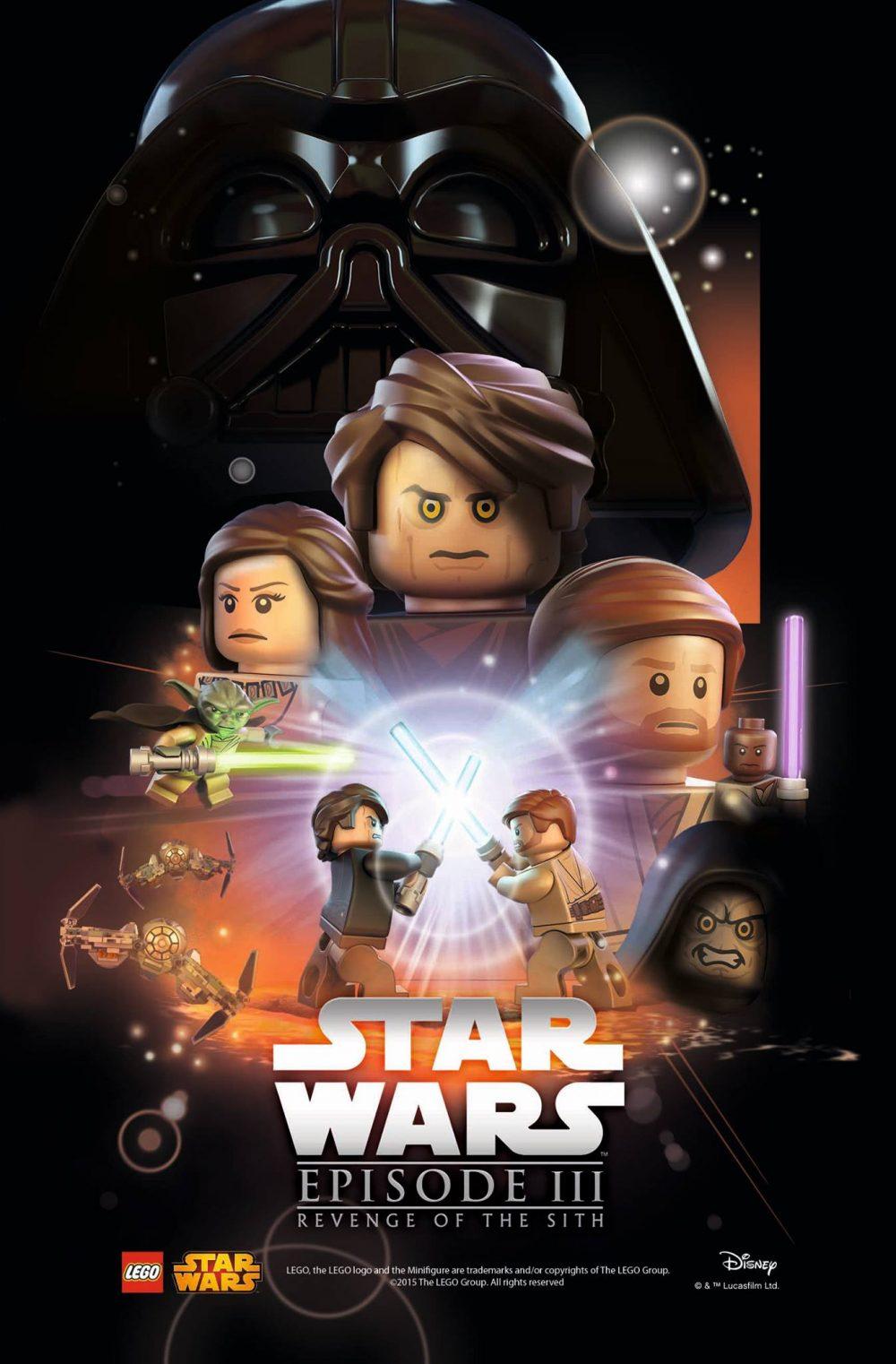star wars episodio 3 poster lego