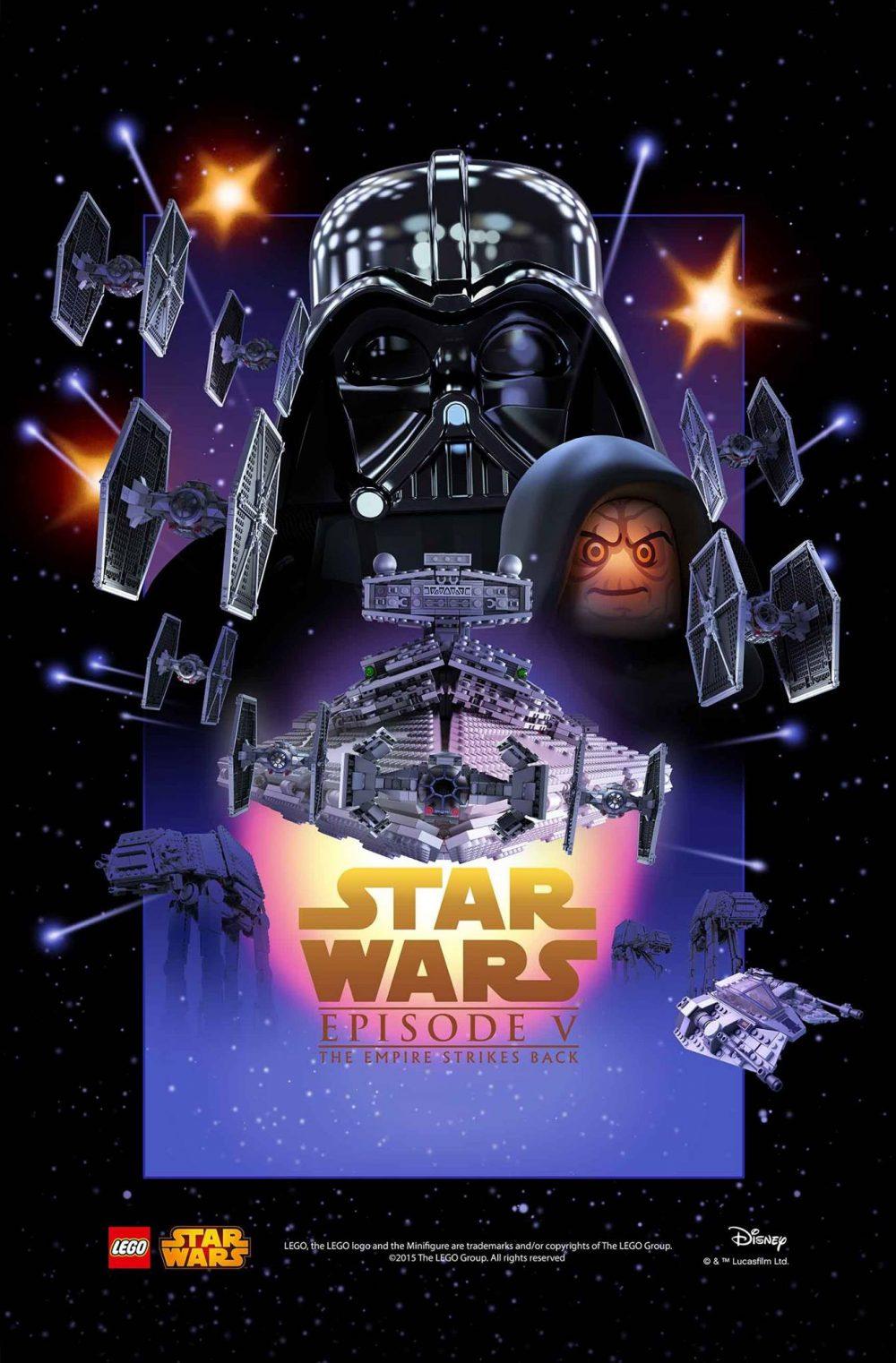star wars episodio 5 poster lego