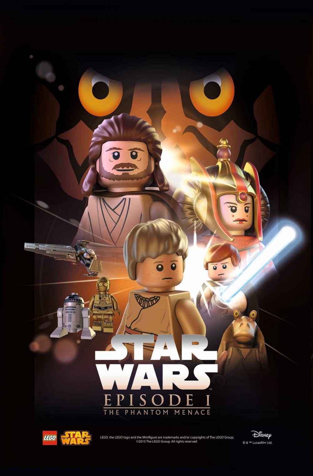 star wars lego poster episodio 1