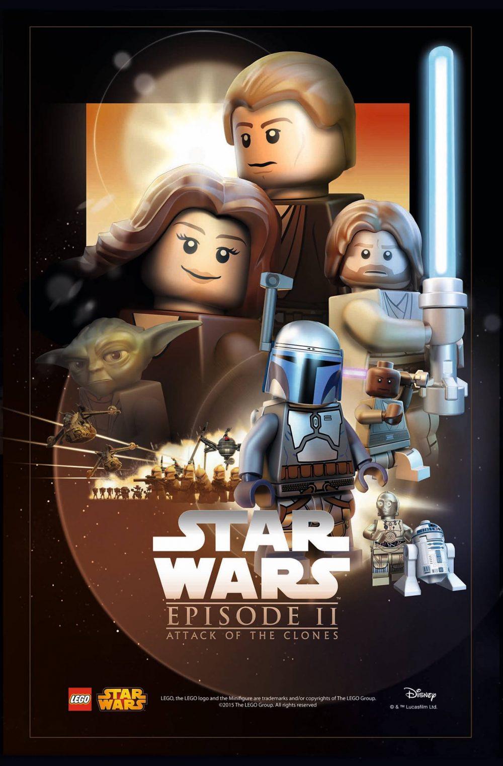 star wars lego poster episodio 2