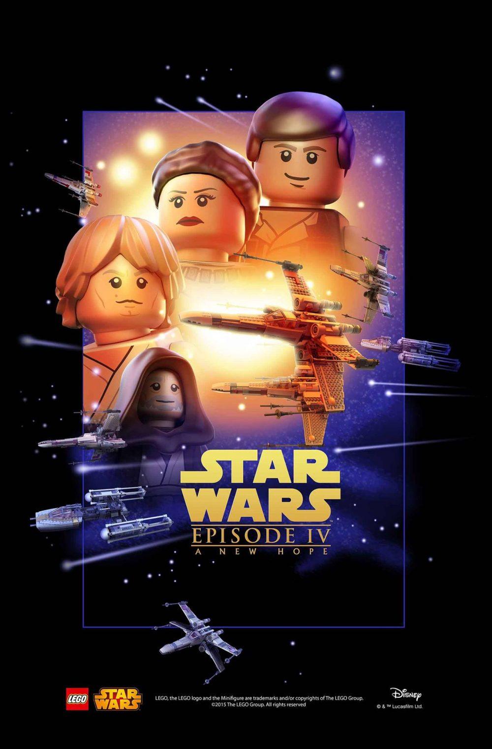 star wars lego poster episodio 4