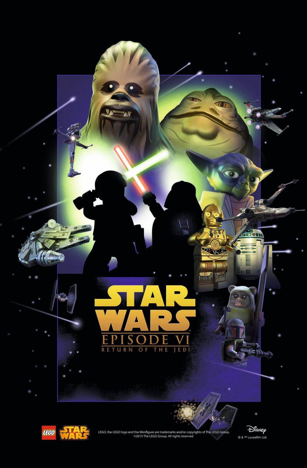 star wars poster lego episodio 6