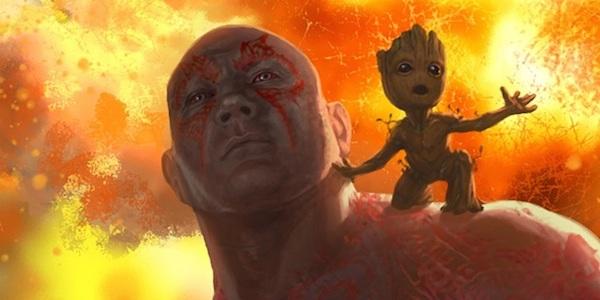 Drax Groot Guardiani della Galassia