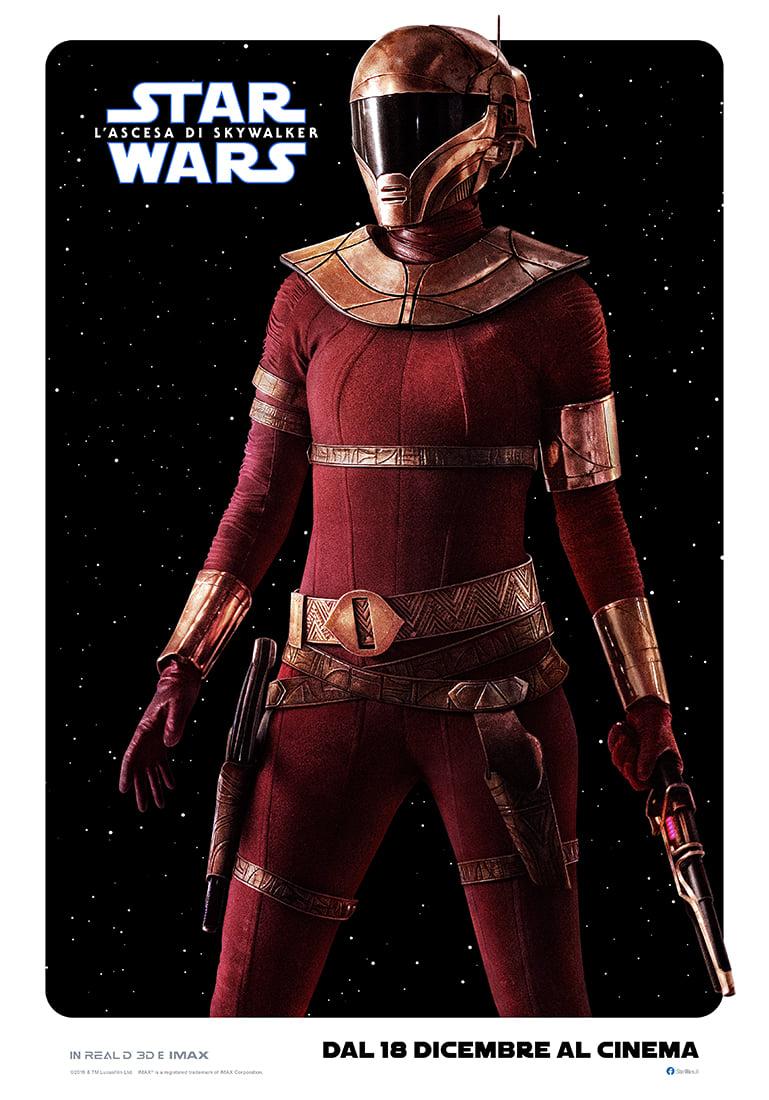 STAR Wars Cosplay ROSSO ROYAL GUARD Mantello Costume Halloween convenzione