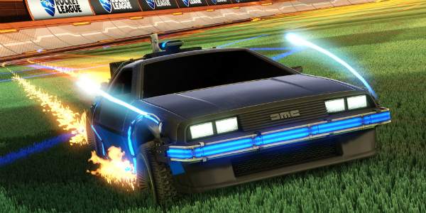 Rocket League DeLorean banner