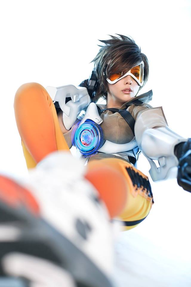 Overwatch Tracer Tasha cosplay