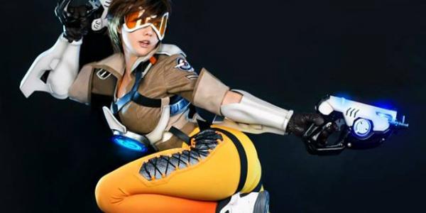 Overwatch Tracer Tasha cosplay banner