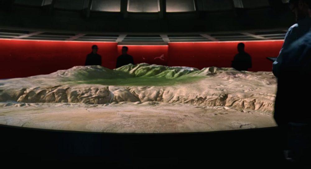 La mappa di Westworld, con una visuale 3D degna delle migliori mappe da avventura grafica