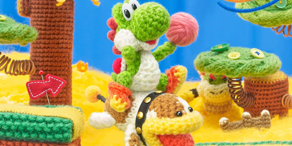 Poochy & Yoshi's Woolly World banner