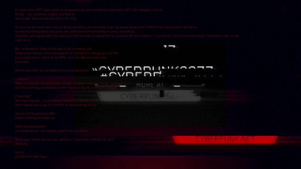 Cyberpunk 2077 cybermessaggio