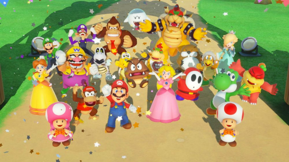 Super Mario Party banner scheda