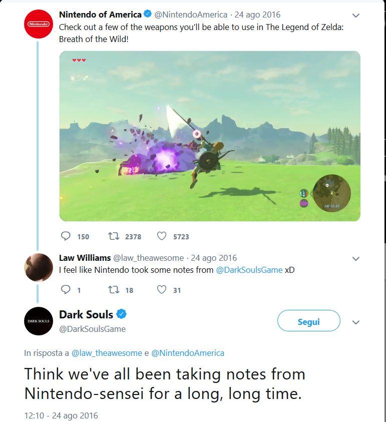 The Legend of Zelda Dark Souls Twitter