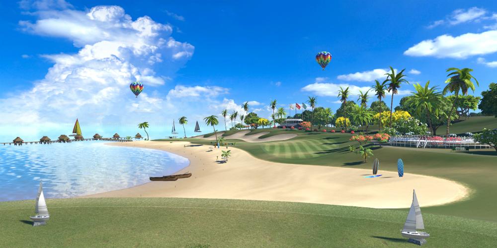 Everybody's Golf VR megaslide