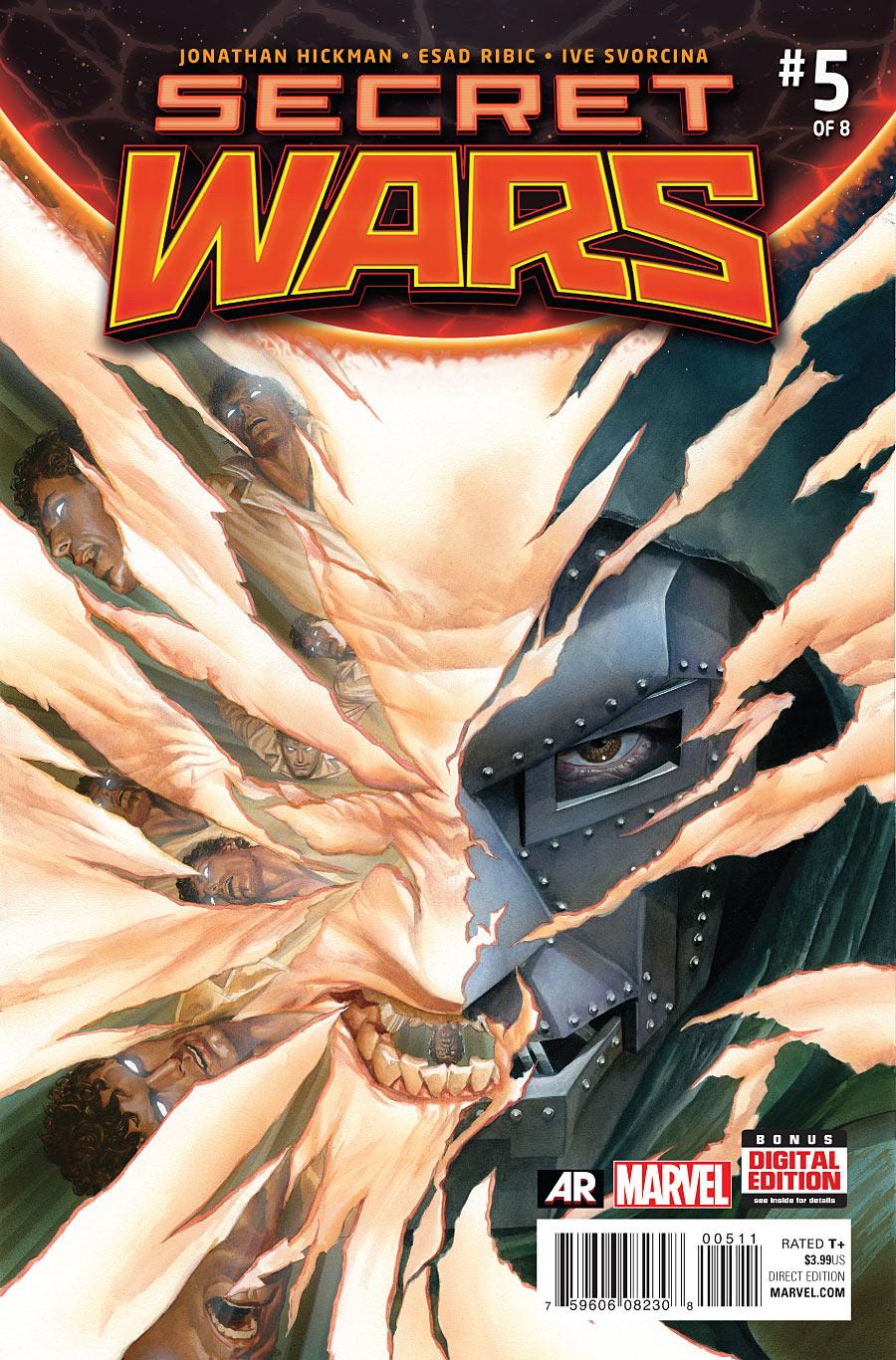 Secret Wars #5, cover