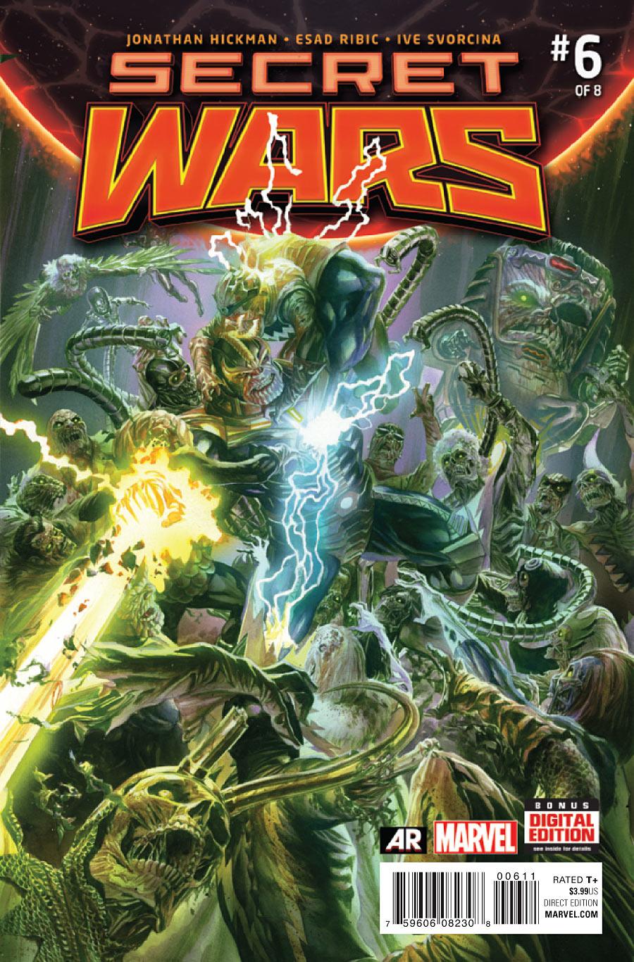Secret Wars #6, cover