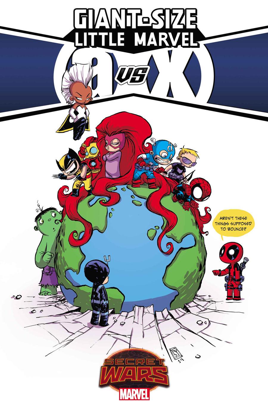 Giant Size: Little Marvel: AvX #1, variant cover B