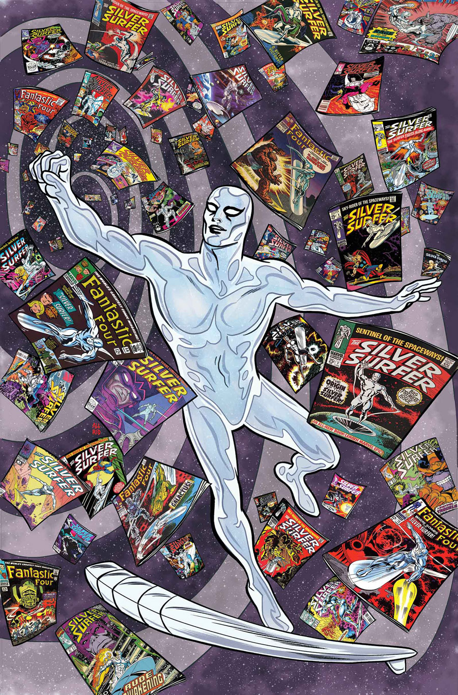 Silver Surfer #6, copertina di Mike Allred