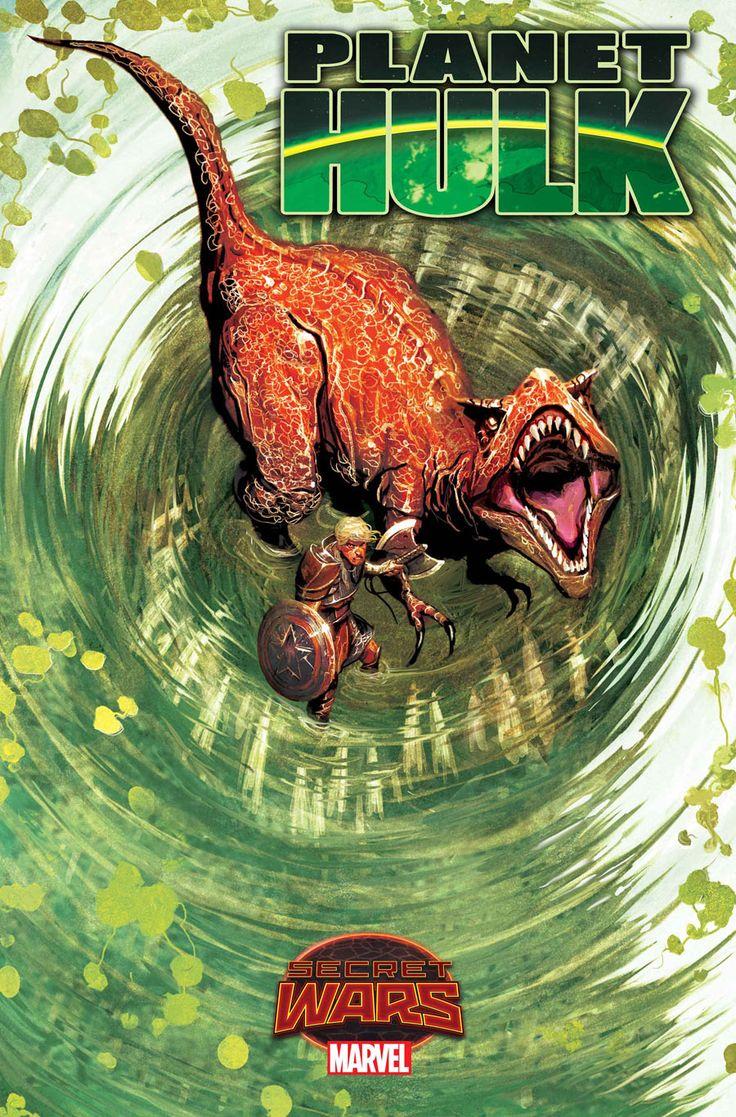 Planet Hulk #3, copertina di Mike Del Mundo