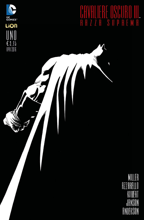 Cavaliere Oscuro III - Razza Suprema 1, copertina di Andy Kubert