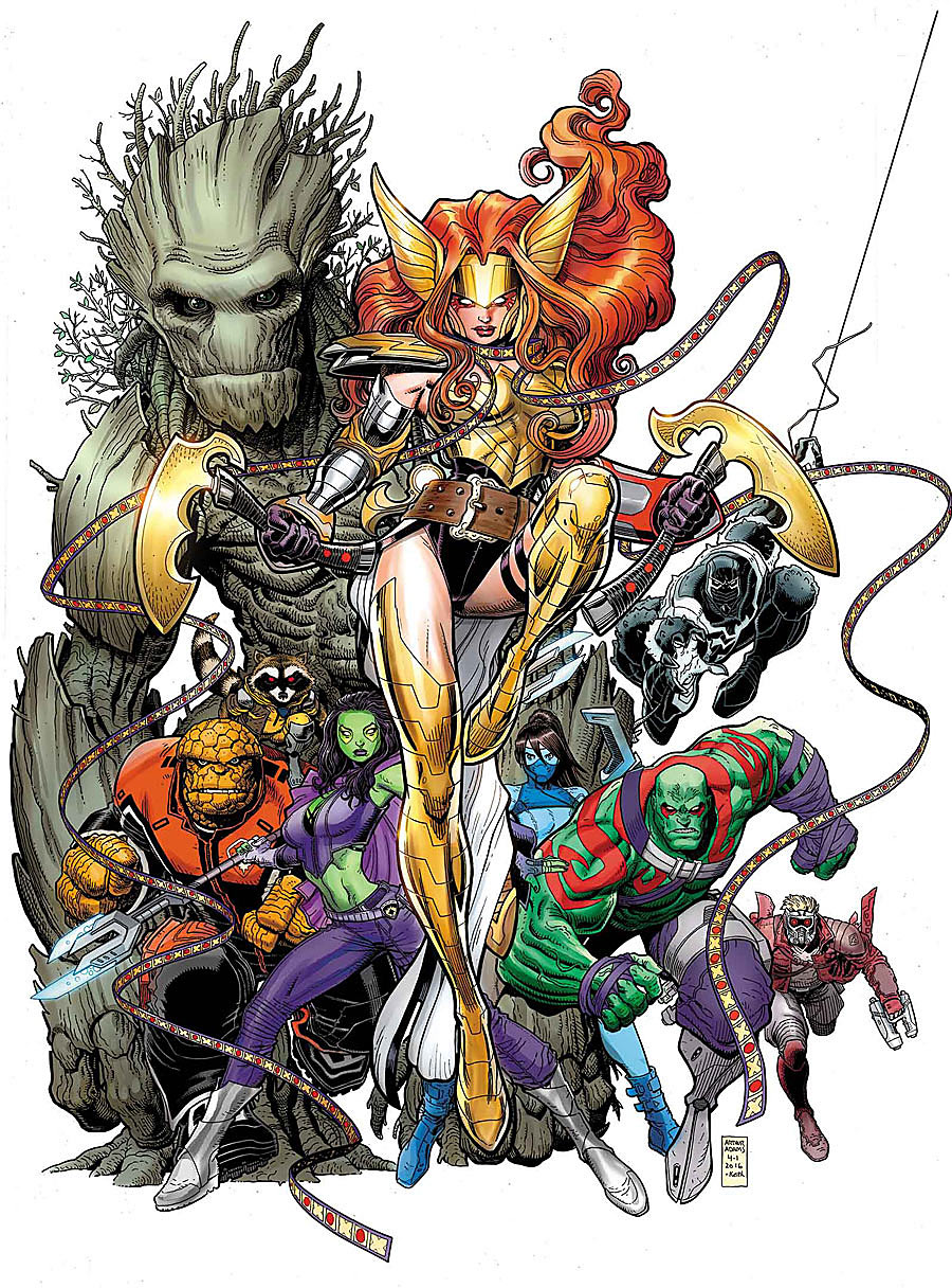 Guardians of the Galaxy #10, copertina di Arthur Adams