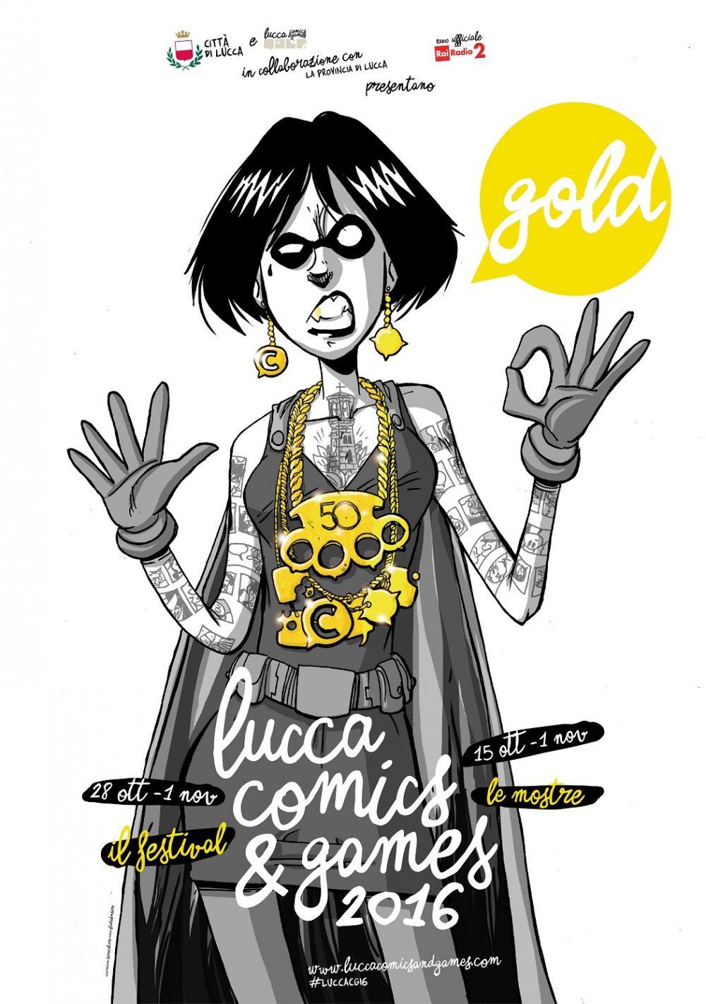 Lucca Comics & Games 2016, locandina di Zerocalcare