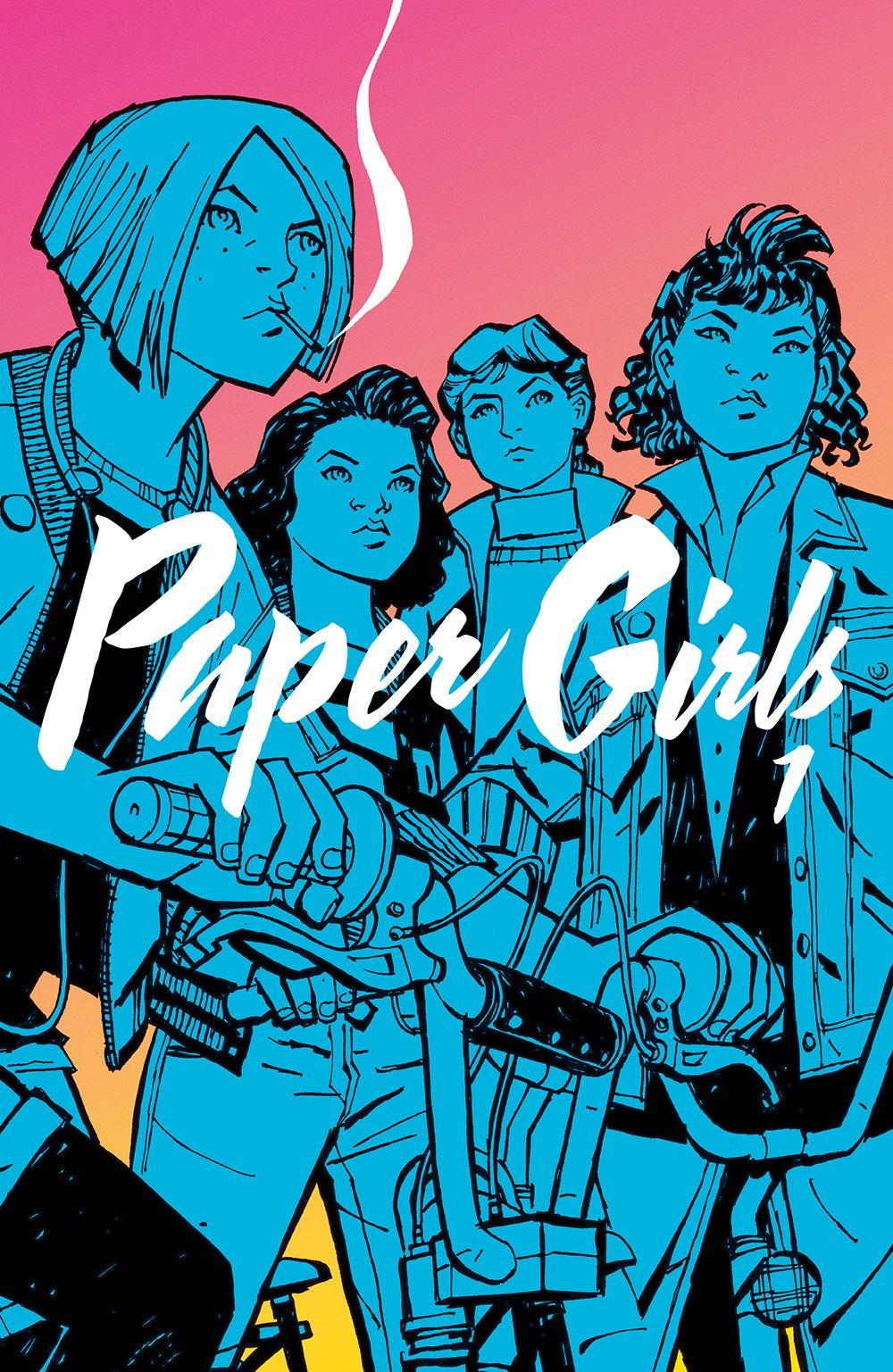 Paper Girls vol. 1, copertina di Cliff Chiang