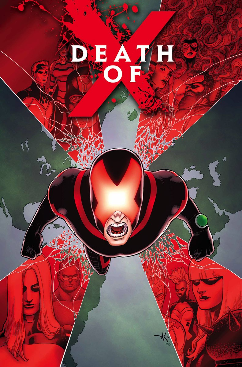Death of X #1, copertina di Aaron Kuder