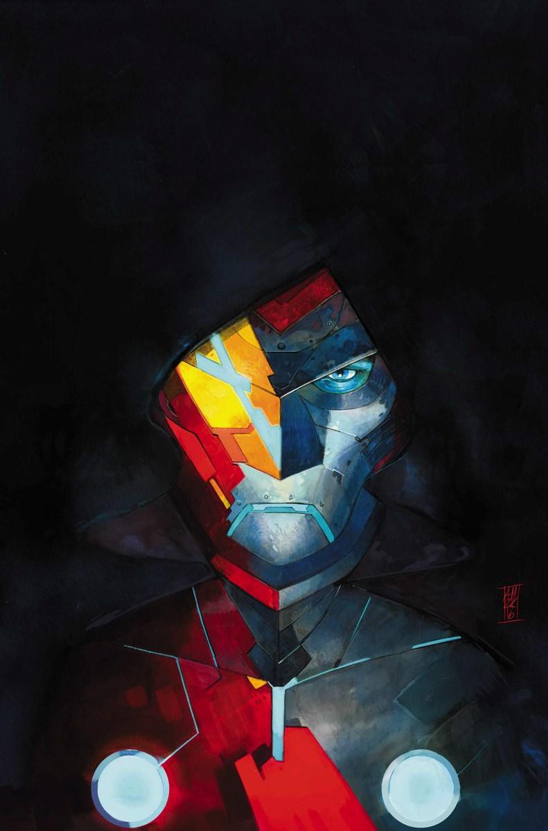 Infamous Iron Man #1, copertina di Alex Maleev