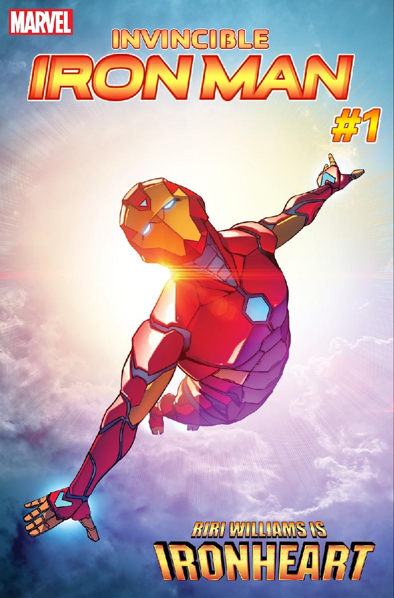 Invincible Iron Man #1, copertina di Stefano Caselli