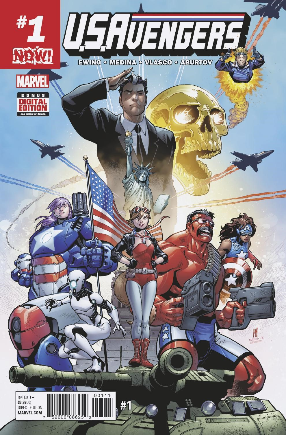 U.S.Avengers #1, copertina di Paco Medina