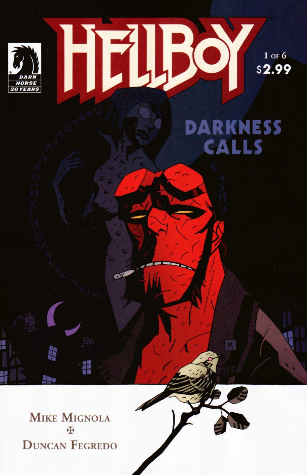 Hellboy: Darkness Calls #1, copertina di Mike Mignola
