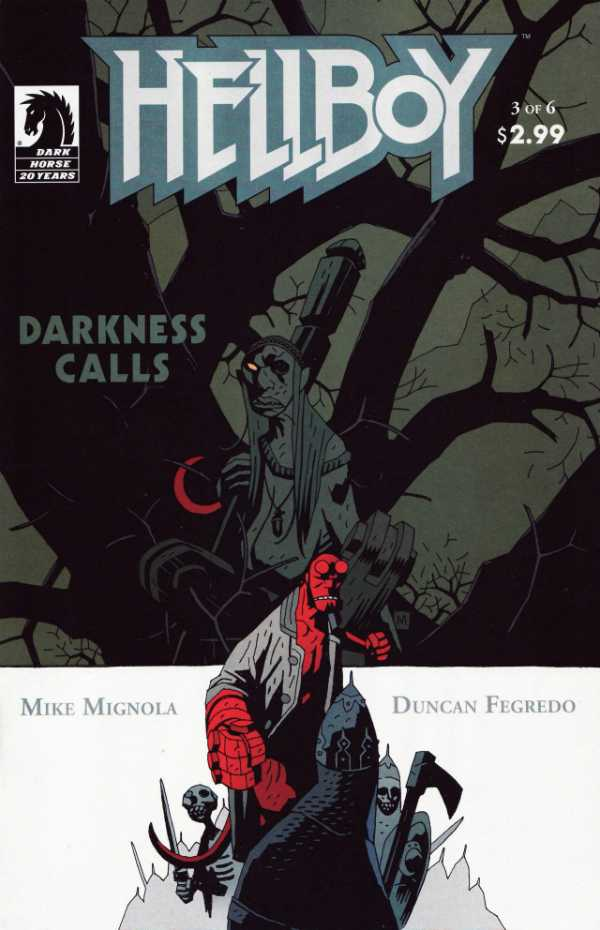 Hellboy: Darkness Calls #3, copertina di Mike Mignola