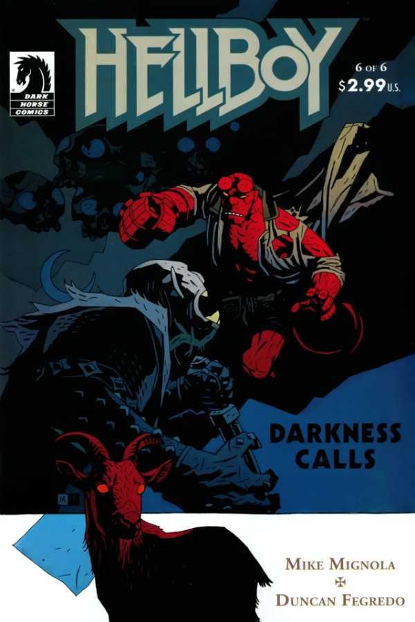 Hellboy: Darkness Calls #6, copertina di Mike Mignola