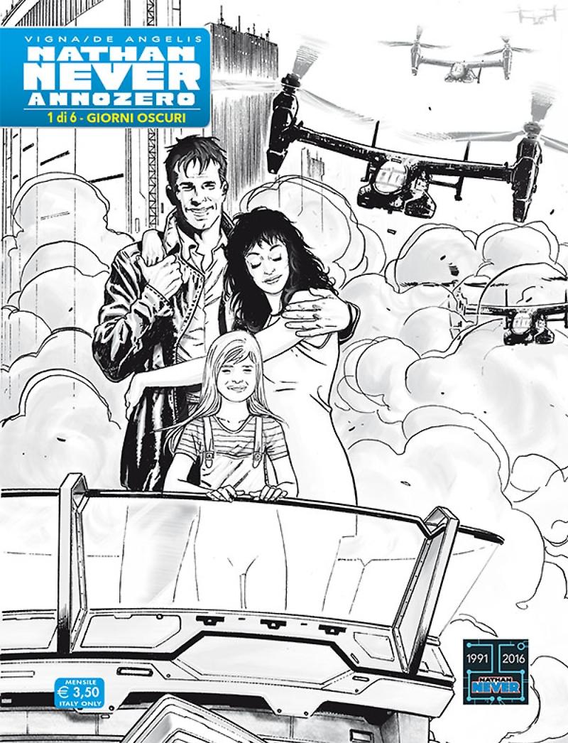 Nathan Never - Annozero 1, copertina variant di Roberto De Angelis