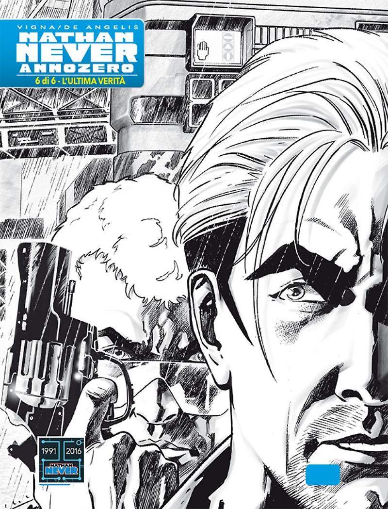 Nathan Never - Annozero 6, copertina variant di Roberto De Angelis