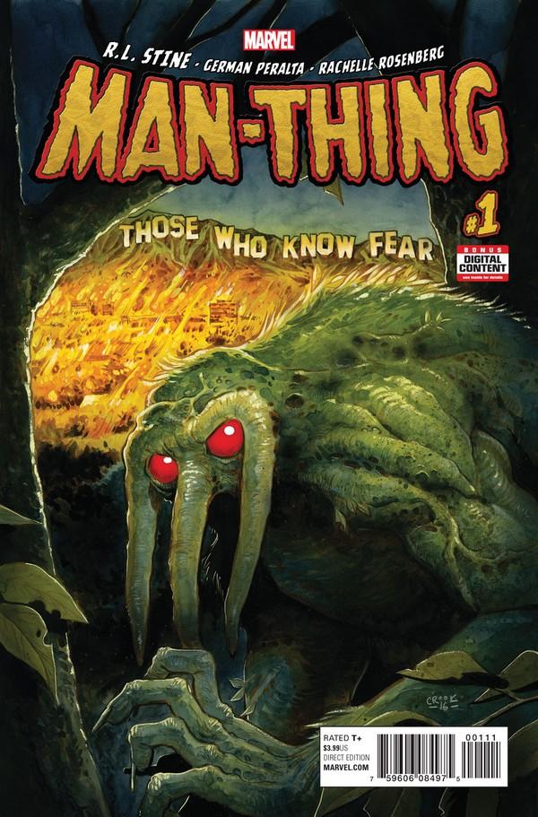 Man-Thing #1, copertina di Tyler Crook