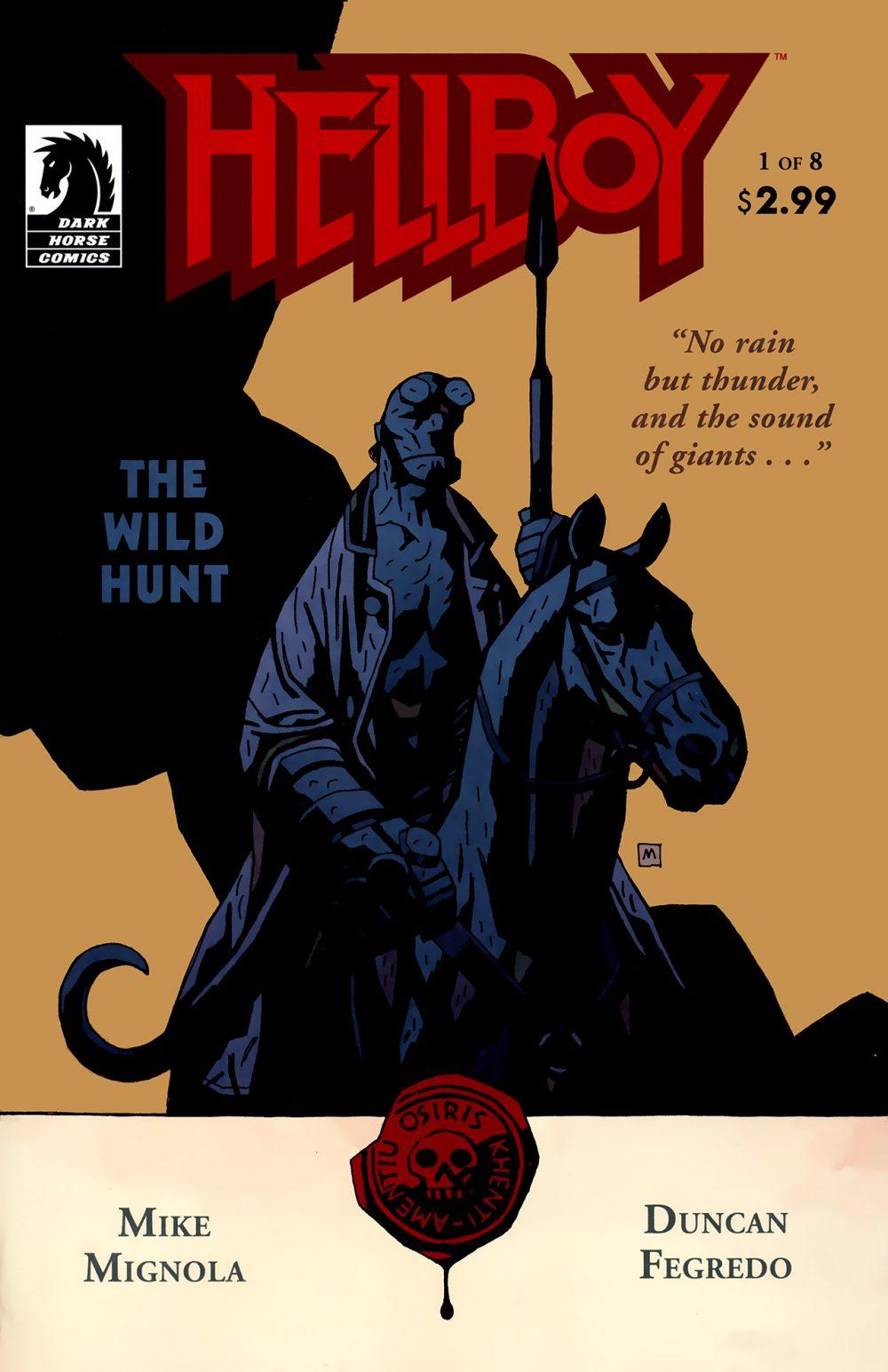 Hellboy: The Wild Hunt #1, copertina di Mike Mignola