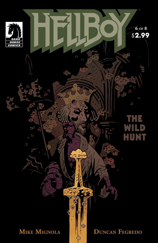 Hellboy: The Wild Hunt #6, copertina di Mike Mignola