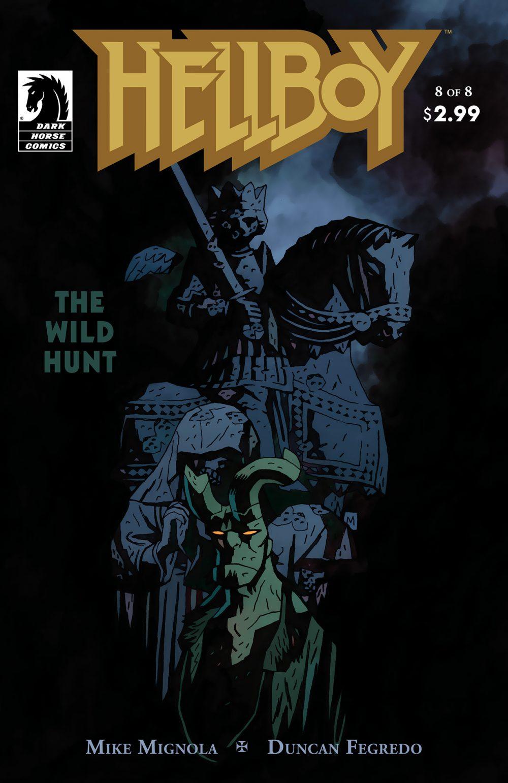 Hellboy: The Wild Hunt #8, copertina di Mike Mignola