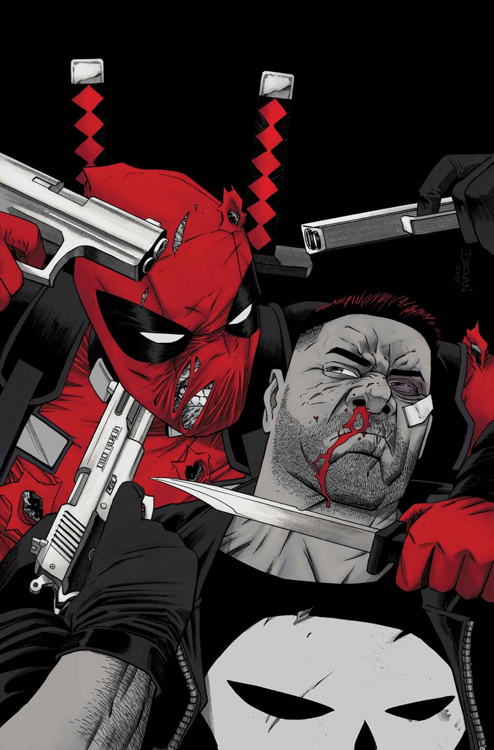 Deadpool vs. the Punisher #3, copertina di Declan Shalvey